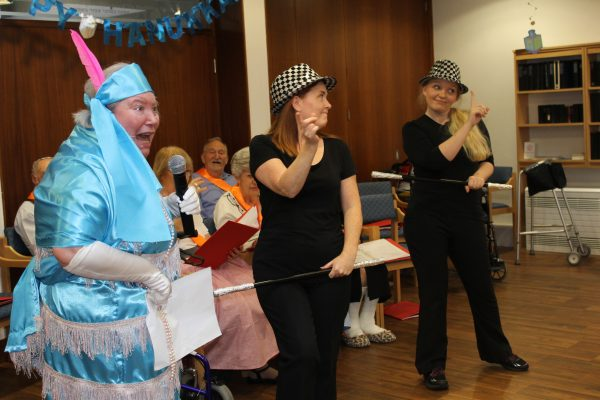 4 – Daphne Levine gets into character with Heathlands staff