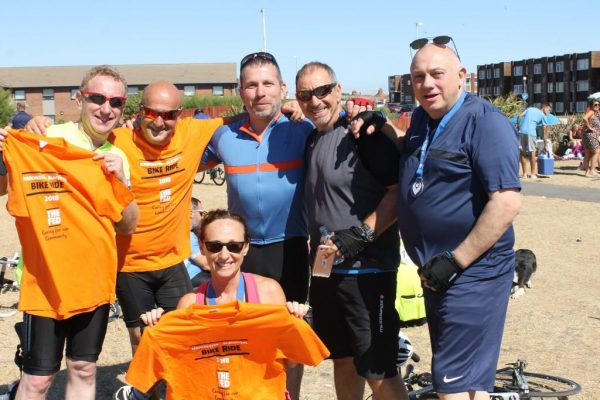 Featured image - Pedal Pushing Duo And Friends Raise Thousands For Revamped Dr Simon Jenkins Unit
